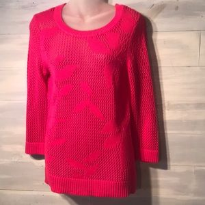 CHRISTOPHER & BANKS hot pink summer tunic sweater